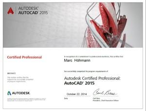 Autocad 2016 Zertifikation
